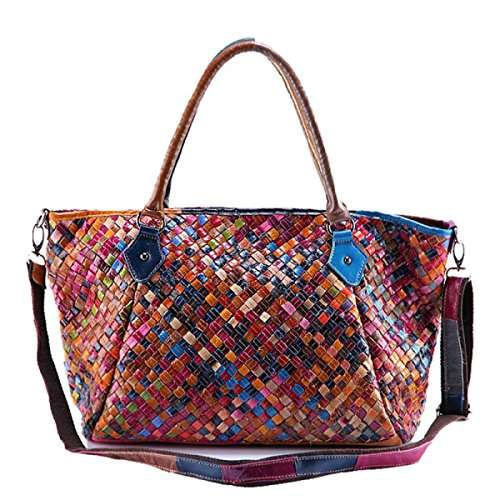 Damen Leder Taschen Handtaschen Messenger Bag Leder Handtaschen Handgefertigte Weben Öl Wachs Handtaschen A