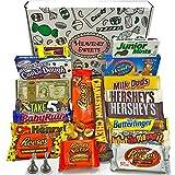 Großer Amerikanische Schokolade Geschenkkorb   Auswahl beinhaltet Reeses, Hershey, Butterfinger, Baby Ruth   23 Produkte in einer tollen retro Geschenkebox   American Chocolate