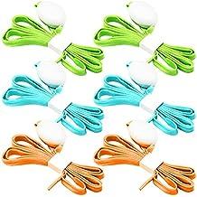 3 Paquete de Cordones de Zapatos de Luz LED, FineGood Nylon Cordones con Cuatro Modos Brillante para Bailar Hip-hop Ciclismo Correr Senderismo Patinaje Deporte - Azul, Naranja, Verde