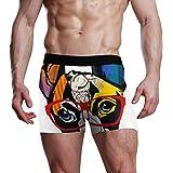 XiangHeFu Slip da Uomo Boxer Occhiali da Sole Colorati Bulldog Francese Mutande Elasticizzate Traspiranti