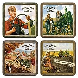 John Deere Nostalgic Lot de 4 dessous-de-verre à boisson (na)