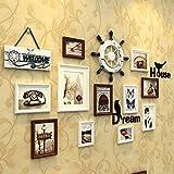 WollWoll European City Classic Style Living Room Decoration Wood Photo Frame Set (157 cm x 2 cm x 80 cm)