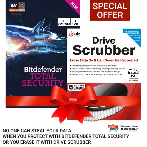 BitDefender Total Security Latest Version - 1 Device, 1 Year...
