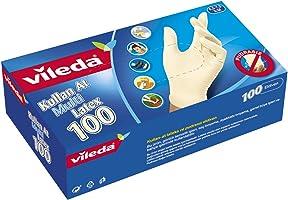 Vileda Kullan-At Eldiven, %100 Pudrasız doğal lateks, M-L, 100'lü