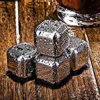 Homeself Wine Chiller Stick–3in 1in acciaio inox bottiglia di vino Cooler Stick con tappo in silicone, Aeratore e Versatore, Acciaio inossidabile, Ice Stone - Ice Stone