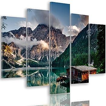 Quadri Moderni Stampa su Tela Canvas cm 100x70 Quadro Moderno Arredo Montagna 3