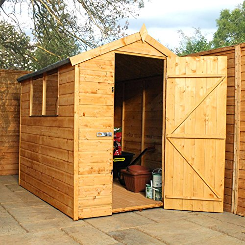 7x5 wooden tongue groove tradesman garden storage shed for Garden shed 7 x 3