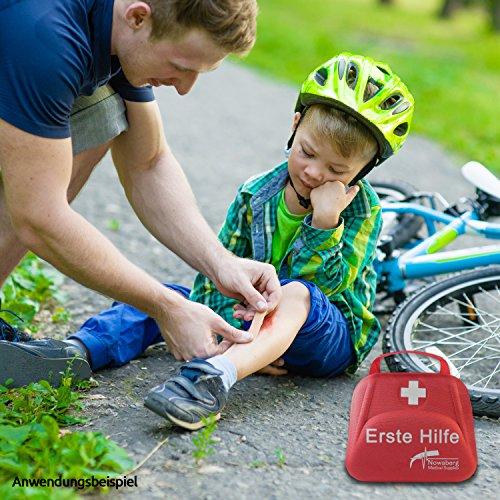 Nowaberg Medical Supplies Erste-Hilfe-Set mit CE-Kennzeichnung für Sport, zu Hause, im Büro, im Wohnwagen, beim Camping, bei Ausflügen oder auf Reisen. Tasche mit 85-teiligem Inhalt für den Notfall - 7