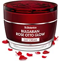 StBotanica Bulgarian Rose Otto Glow Day Cream SPF 30 UVA UVB Protection, Brightening & Nourishing, 50 g (STBOT685)