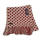 Crossroads Schurwolle Decke/Überwurf Teppich–Rost–British Made