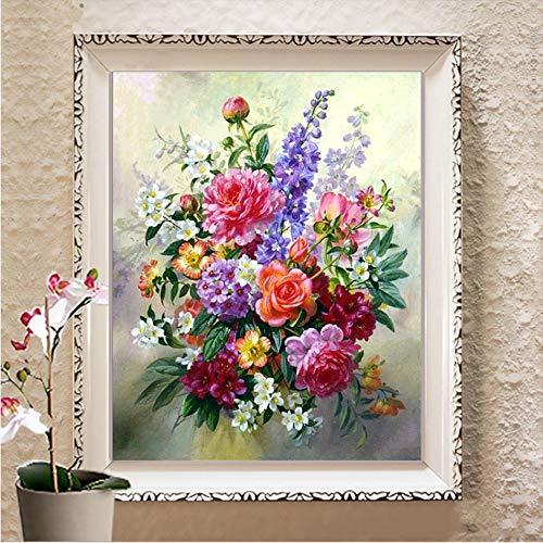 Diy Diamant Stickerei Blume, 5D Diamant Malerei, Kreuzstich, 3D, Diamant Mosaik, Handarbeit, Handwerk, Weihnachten, Geschenk -