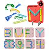 Butterflyfields Alphabets Numbers Construction Puzzles Toys for Kids 3 4 5 Years Boys Girls   ABCD Blocks for Kids   Learning