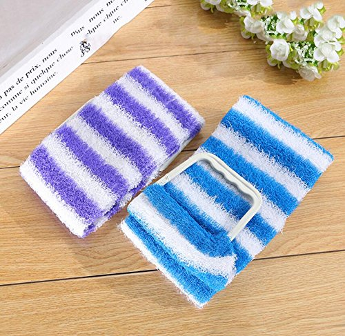 Blue Bridge Luffa Brush Stripe Exfoliating Back Strap Scrubber Brosse De Massage Brosse De Massage La Salle De Bain