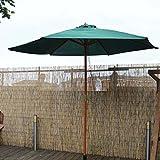 2.7m Green Wooden Garden Parasol with Shaft Diameter 38mm