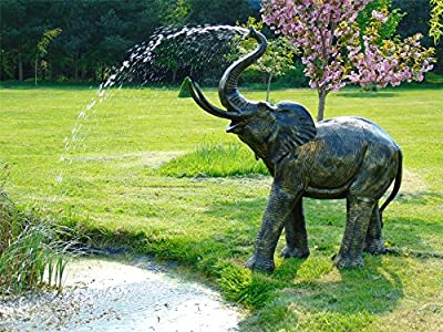 Black Country Metal Works Elephant Water Fountain by Black Country Metal Works