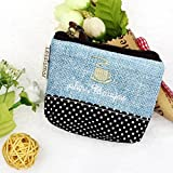 Vovotrade® 2016 HOT!!!Small Canvas Purse Zip Wallet Lady Coin Case Bag Handbag Key Holder (Blue)