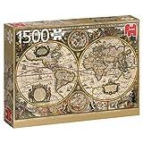 Puzzle Jumbo Carte Du Monde 1630 - 1500 Pièces
