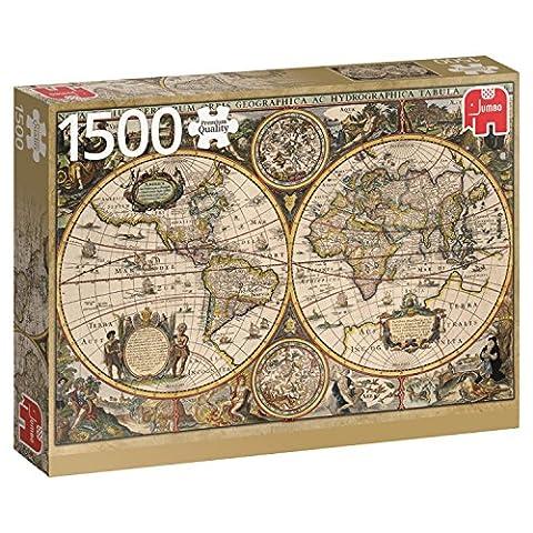 Jumbo - 618345 - Puzzle - Carte Du Monde 1630 - 1500 Pièces