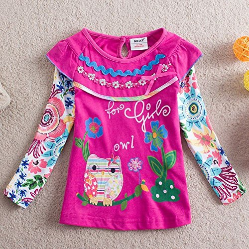 Mieldorie bambina principessa cotone T-shirt (2-3 anni, viola)