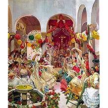 ODSAN Seville, The Dance - By Joaquin Sorolla Y Bastida - impressions sur toile 20x24 pouces - sans cadre