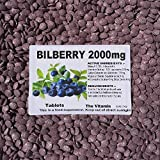 "The Vitamin BILBERRY 2000mg 120 tablets ""Eye Health"" ~(L) by The Vitamin"