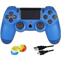 Juego Game Controller for PS4, Controller Wireless per Playstation 4 con Joystick di Gioco a Doppia Vibrazione, Blu…