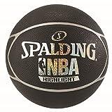 Spalding NBA Highlight Ball Basketball, schwarz/Silber, 7