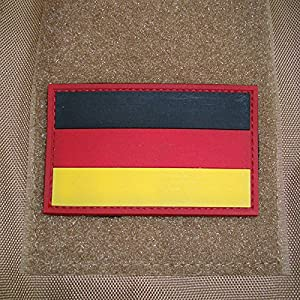 3 d'Rubber Patch – Drapeau Allemagne l'Allemagne insigne Badges Airsoft Noir Or Rouge Bundeswehr KSK Tactical Combat utilisation kennung Uniform 5 x 8 cm # 17044