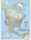 North America Classic, tubed Wall Maps Continents: NG.PC620014 (Reference - Continents)