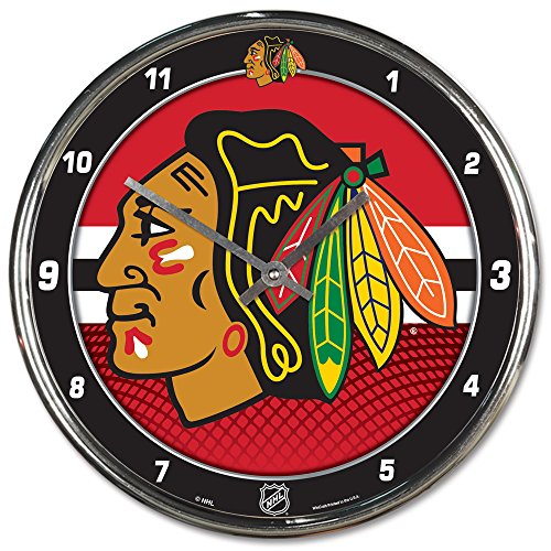 "Wincraft NHL Chicago Blackhawks Chrome Clock, 12"" x 12"""