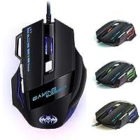 iAmotus Mouse da Gioco, Ergonomico Mice da 7200 DPI Regolabile Ottico Mouse 7 Pulsanti RGB Gaming Mice Gioco Lavoro…