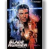 Box Prints Blade Runner Film Vintage Retro-Stil Poster Kunstdruck schwarz weiß gerahmte Bild klein groß