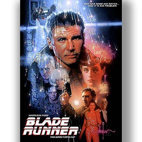 Box Prints Blade Runner Film Vintage Retro-Stil Poster Kunstdruck schwarz weiß gerahmte Bild klein groß -