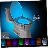 1pc WC WC Luz Nocturna De Luz De Fondo De Luz para Luces De Inodoro Asiento del Inodoro con Sensor De Movimiento