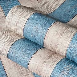 Auta-adhesivo Papel pintado Banda madera Papel tapiz Decoración del hogar Pegatina de pared Para el salón Dormitorio-D 53×300cm(21*118IN)
