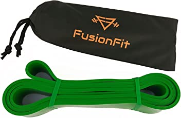 FusionFit Resistance Bands - 41 Inch Looped Resistance Bands with Carry Bag - Perfect for Pull Up Assistance, Crossfit, Yoga, Pilates, Gym and Fitness Workouts - Light Weight, Easy to Carry
