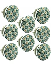 JP Hardware Ceramic Door Knob (Standard Size, Multicolour) - Pack of 8