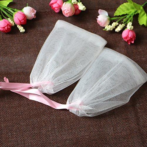 Lurrose 5 stücke Seife Mesh Tasche Körper Gesichts Dusche Blase Schäumen Net Bad Peeling-mesh Seife Saver Pouch