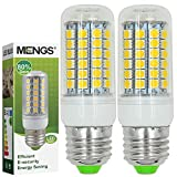 MENGS® 2 Stück E27 LED Lampe 9W AC 220-240V Warmweiß 3000K 69x5050 SMD