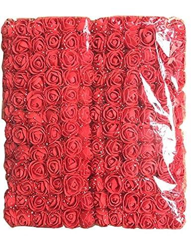 Hlhn 144pcs Mini Rose artificielle Multicolore Rose Bouquet de fleurs décoration Rose Flowe pour bureau Décoration Maison de bureaux des Tables de jardin extérieur fête