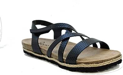 YOKONO Chipre 100 Sandali Bio Pelle Incisa Velcro