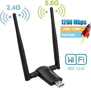 Flybiz Wifi Adapter Usb 3 0 Wlan Stick 1200mbps Computer Zubehör