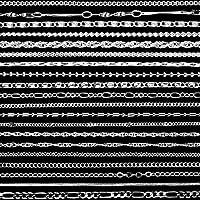 20 Piezas de Collar de Cadena Chapado de Plata en Estilos Diferentes con Cierre de Langosta para Manualidades Fabricación de Bisutería, 1,2 mm (18 Pulgadas)