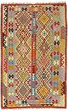 CarpetFine Kelim Afghan Teppich 120x188 Multicolor - Geometrisch