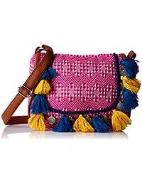 Kanvas Katha Women's Sling Bag (Pink) (KKMJQ010)