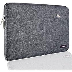 """Hseok 13-13,3"""" Housse de PC Portable Compatible MacBook Air 13 A1369/A1466, MacBook Pro Retina 13, Sacoche Ordinateur Portable Étui Antichoc Certifié Résistant à l'eau & Plus 14 Pouces, Linen Gris"""