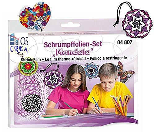 """OSCrea Schrumpffolien-Set """"Mandala"""", Geschenkpackung"""