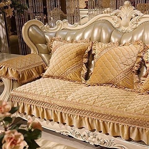 serviette de canapé/coussins de canapé de style européen/luxe,coussins du canapé en cuir/[printemps été],style américain, serviette canapé quatre saisons-A 86x210cm(34x83inch)