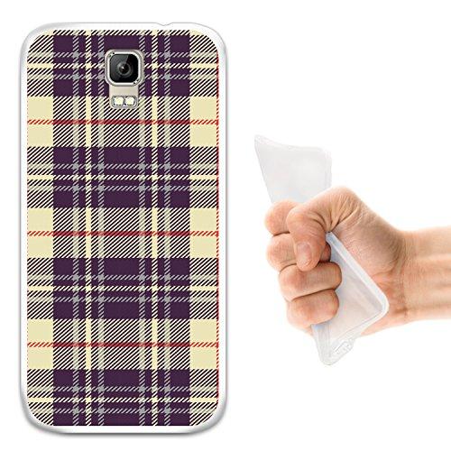 WoowCase Umi Rome Hülle, Handyhülle Silikon für [ Umi Rome ] Kreuz Schottenkaro Material Handytasche Handy Cover Case Schutzhülle Flexible TPU - Transparent
