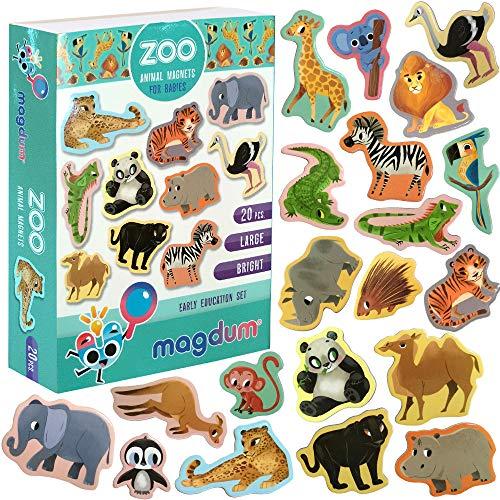 MAGDUM Imanes Animales Zoo Pizarra Infantil niños